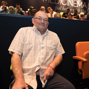 Chris Gorringe enjoying the ICAP MediCinema at Guy's