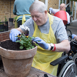 Ray at the gardening group
