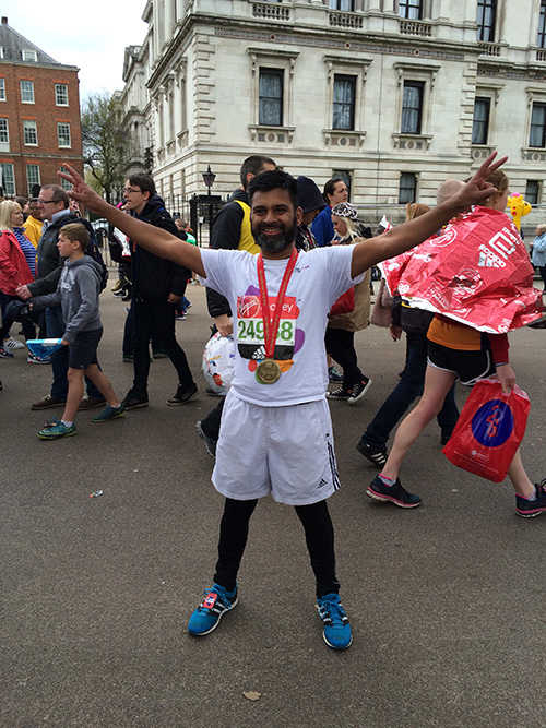 Aamer after the race
