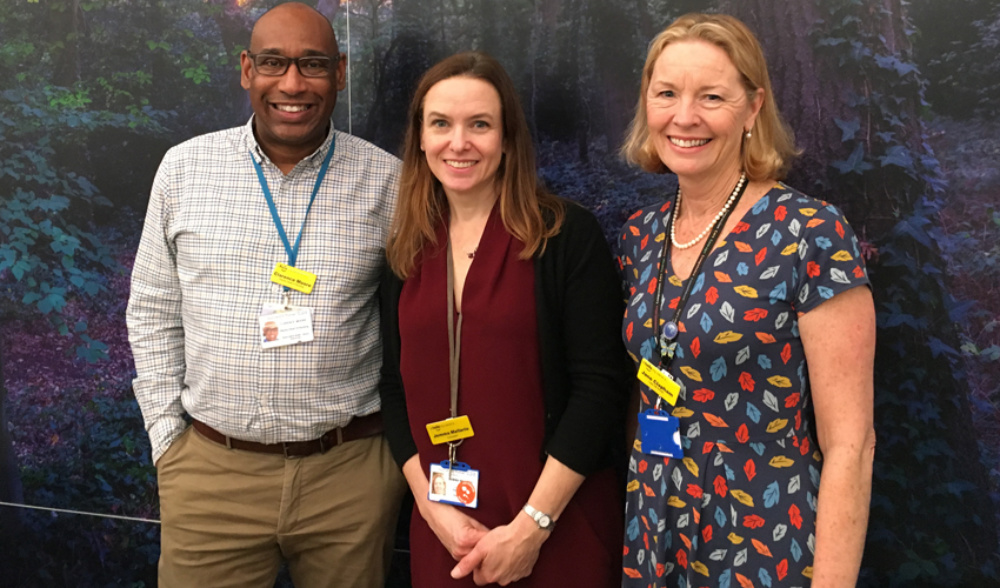 Three members of staff at the Rare Disease Centre